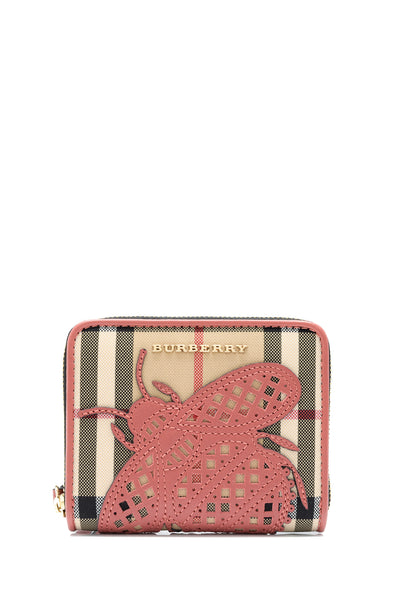 Horseferry Check Applique Insects Small Elmore Wallet