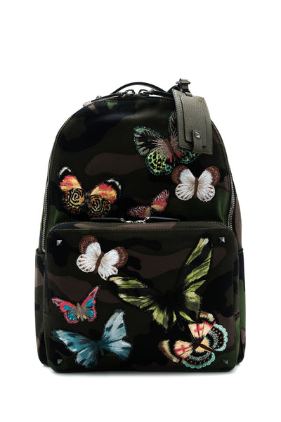 Butterfly Embroidery Camouflage Backpack