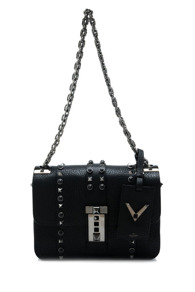 Rockstud Rolling Noir Shoulder Bag