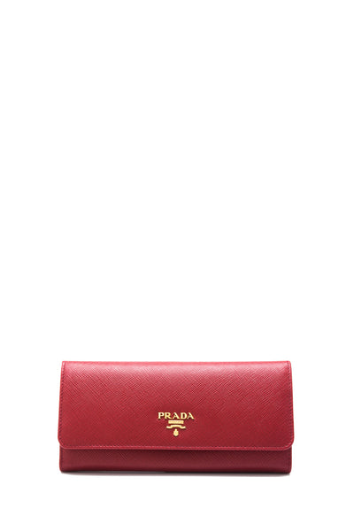 Saffiano Metal Long Flap Wallet