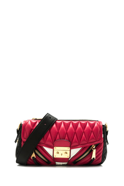 Nappa Biker Colour Flap Shoulder Bag