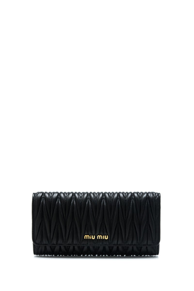 Matelasse Long Flap Wallet