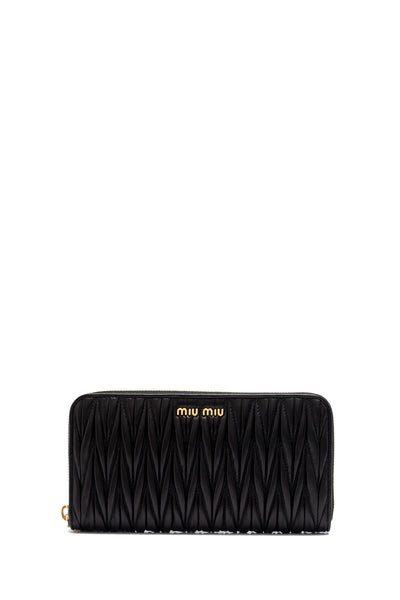 Matelasse Long Zip Around Wallet