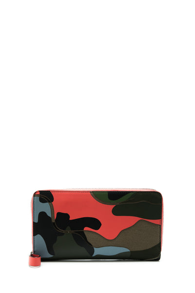 Camouflage Zip Around Wallet