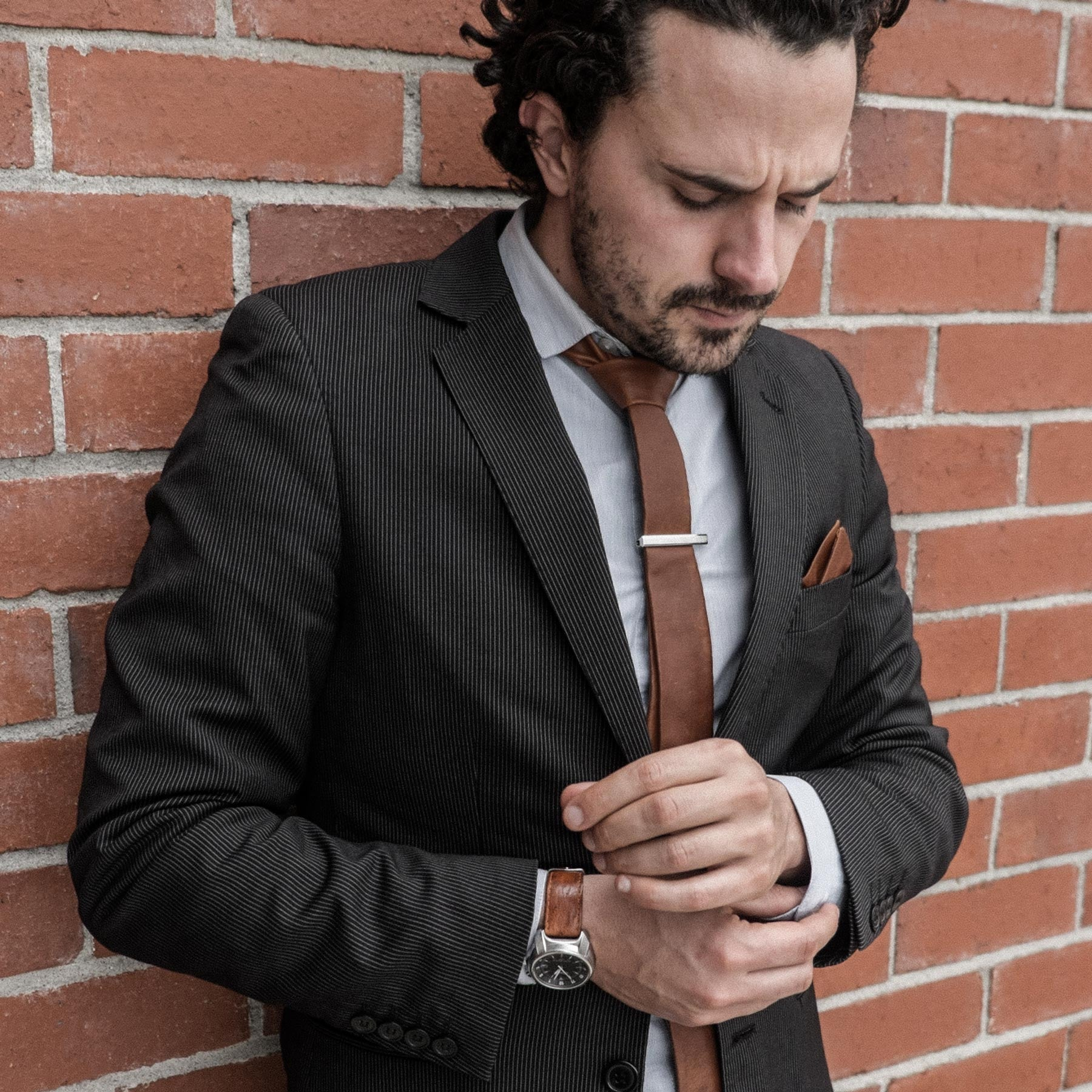 Model No.1 – Charley Brown - WEEF | Handmade Leather Ties - 2