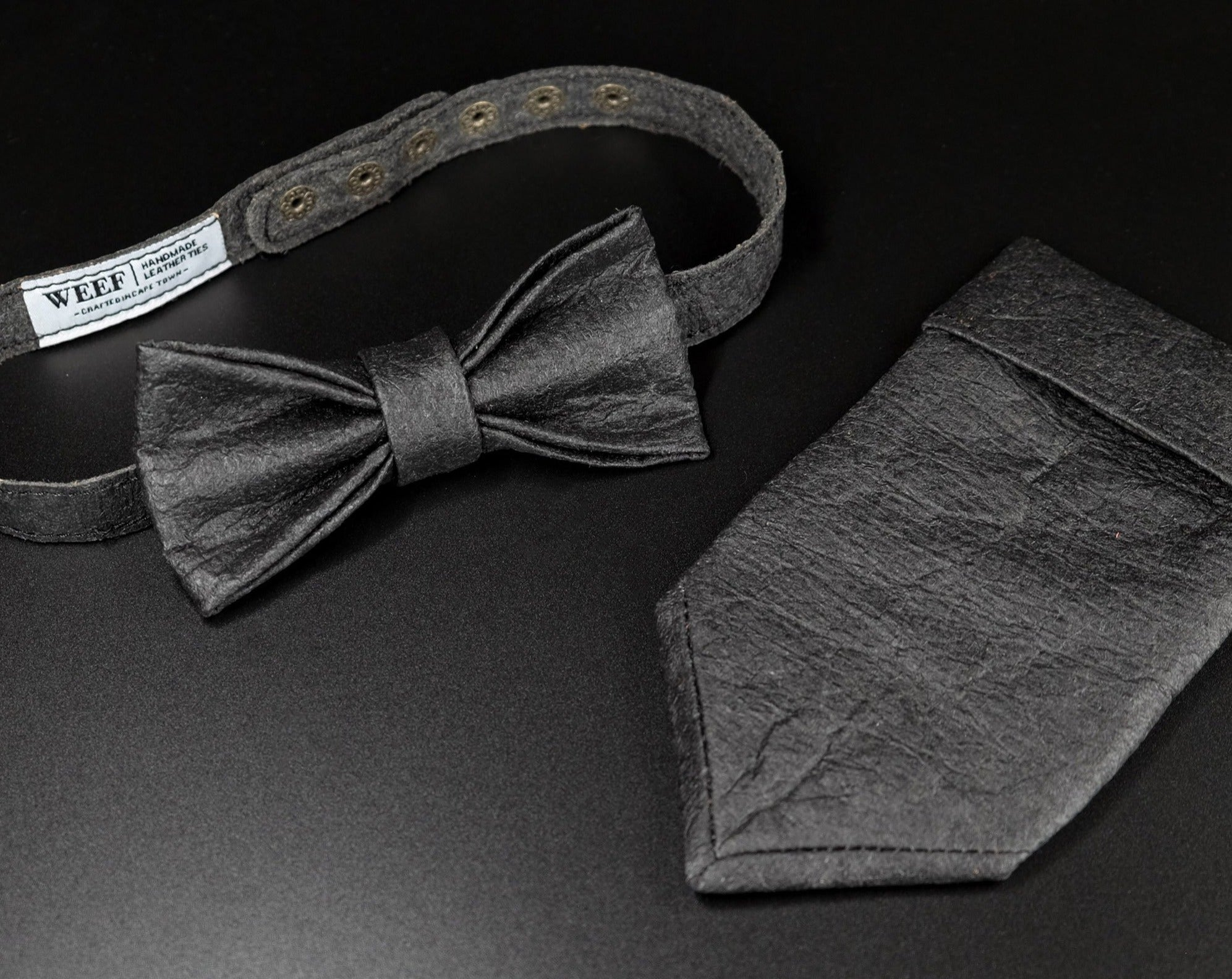 BOW TIE - Piñatex® Charcoal