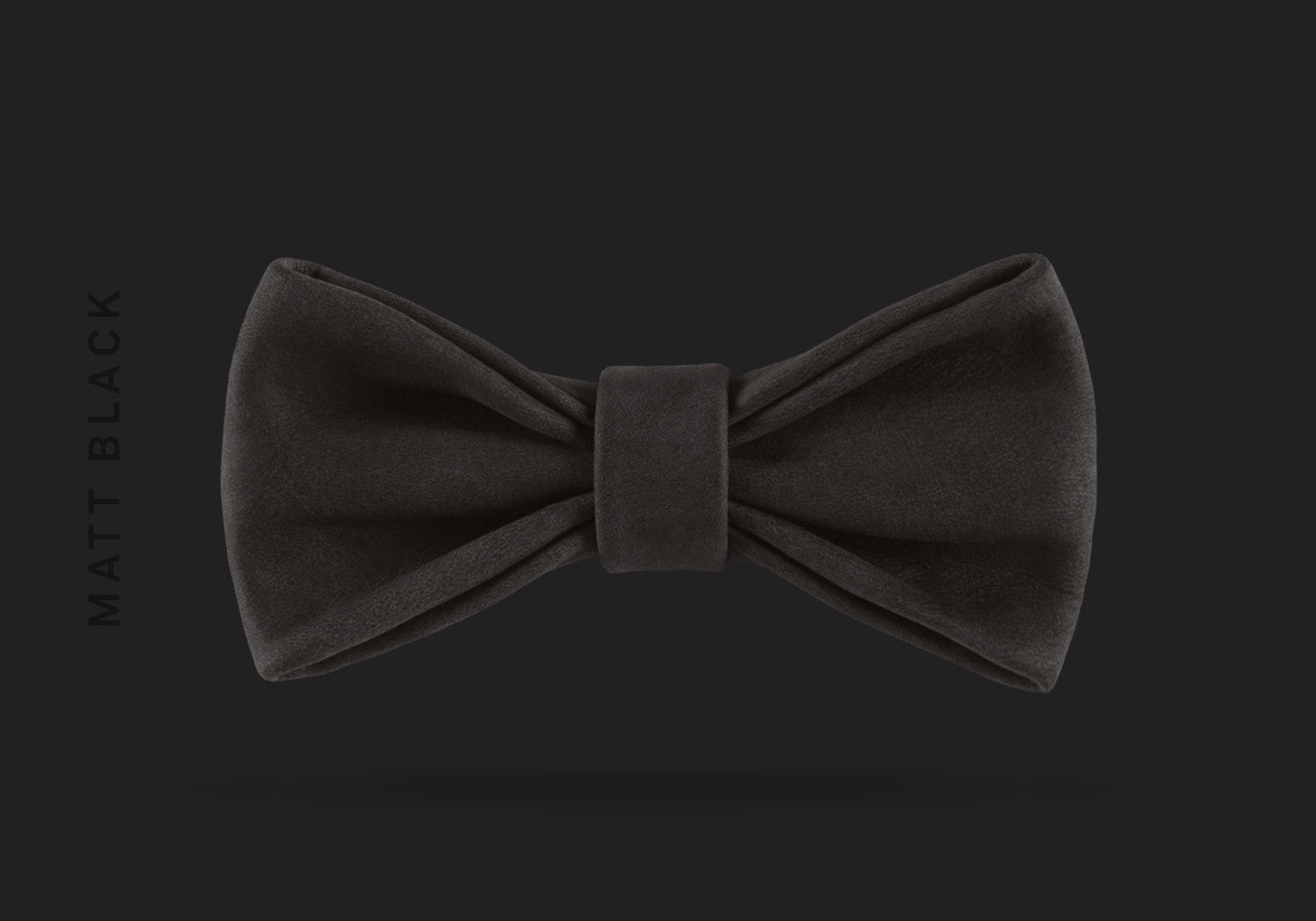 This matt black WEEF handmade leather bow is a great present or gift idea for dapper and stylish gentlemen for fathers day, valentines day or Christmas.