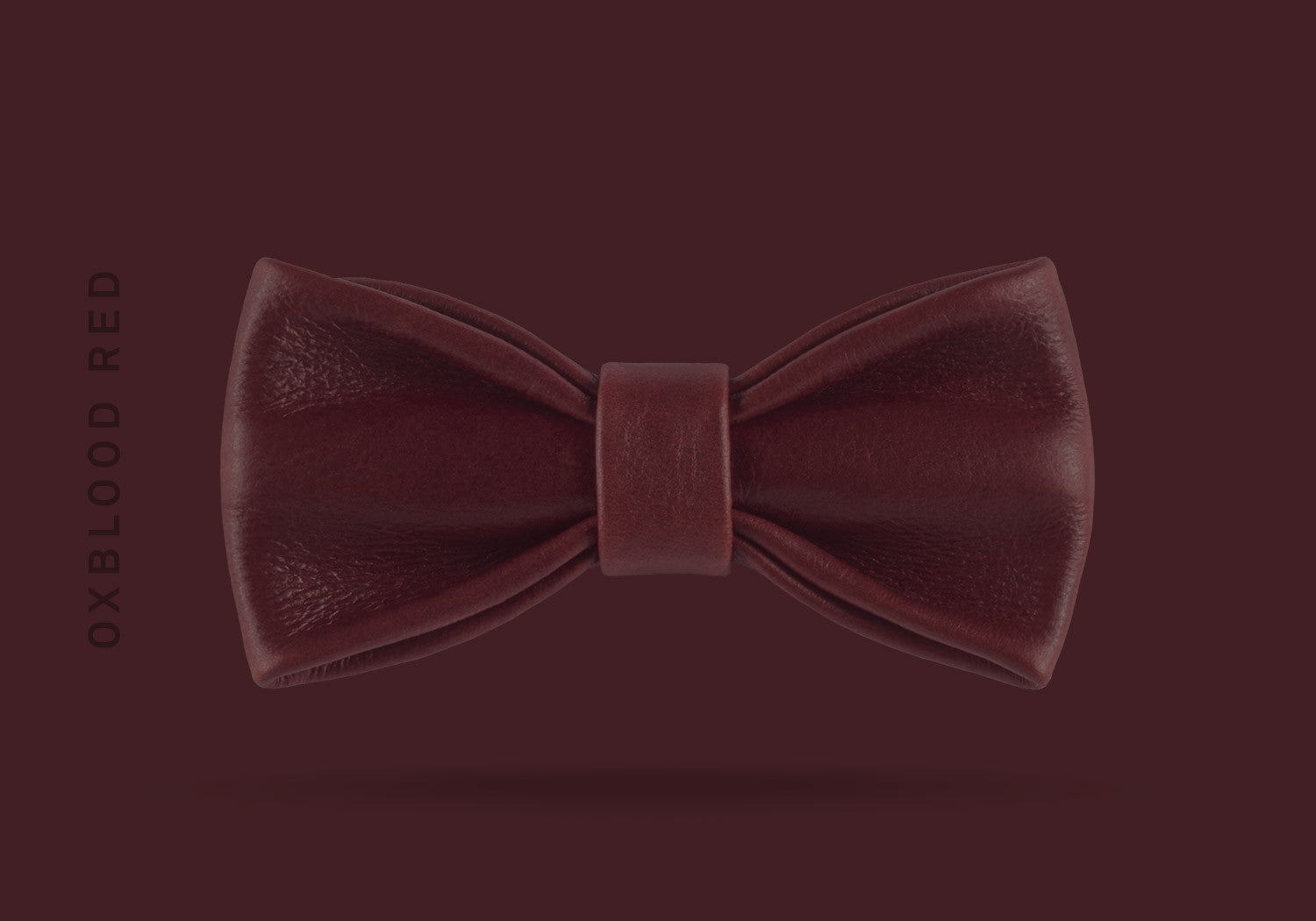 This oxblood red WEEF handmade leather bow is a great present or gift idea for dapper and stylish gentlemen for fathers day, valentines day or Christmas.