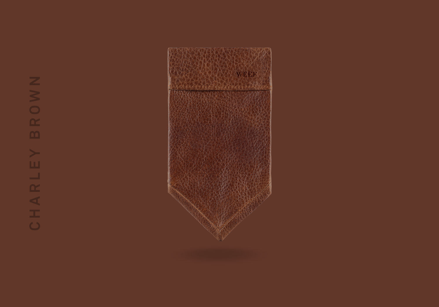 This charley brown WEEF handmade leather pocket square is a great present or gift idea for dapper and stylish gentlemen for fathers day, valentines day or Christmas.