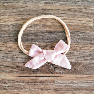 Miniland hand tied bow headband