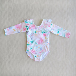 Long Sleeve flutter Swimsuit in Mermaid Lagoon