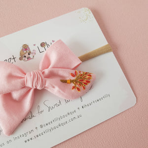 Petals Baby Bow Hand Embroidered Headband