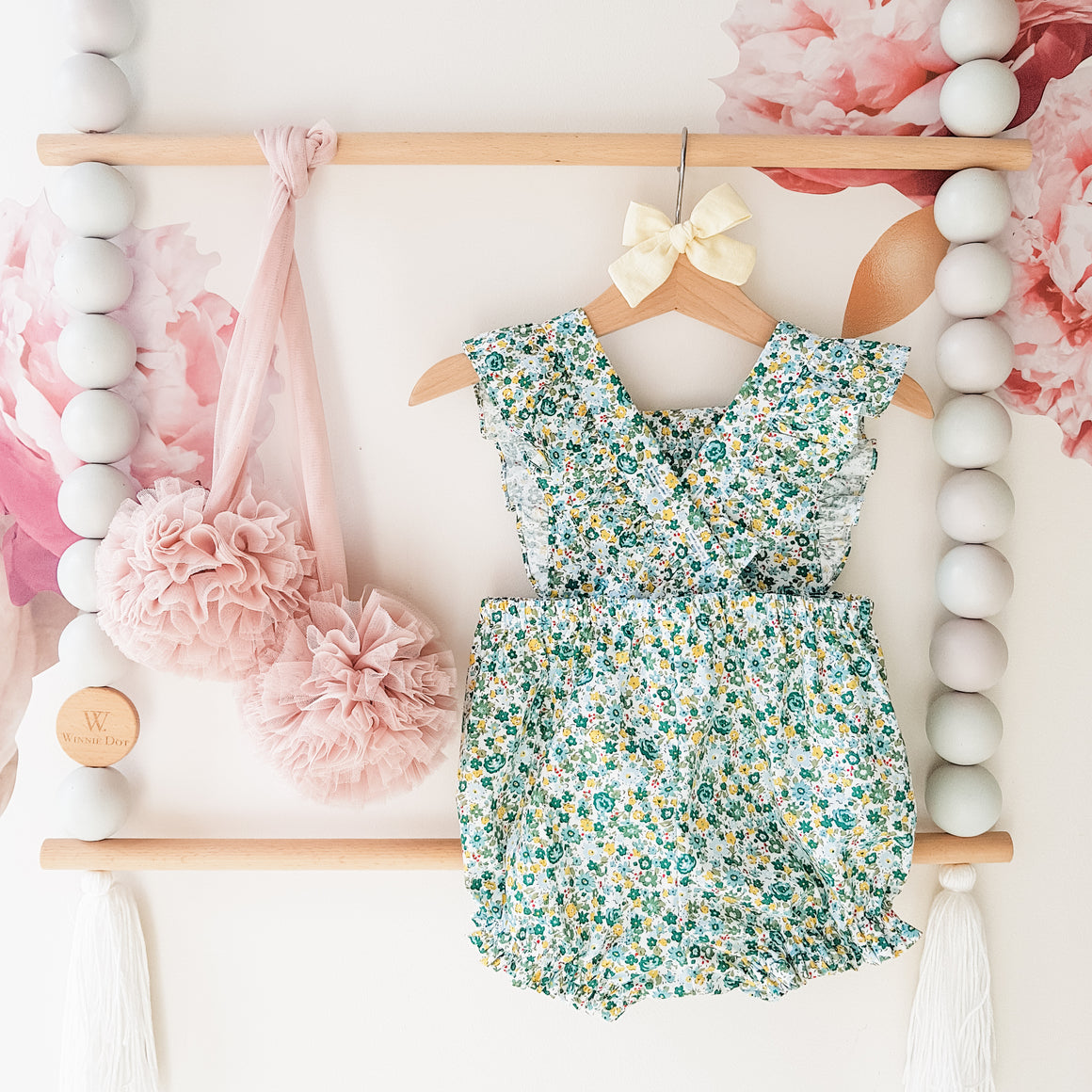 Duchess Romper in Little Petal