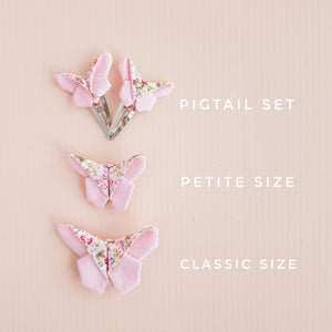 Sandy Butterfly Clip / Headband / Pigtail Set