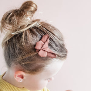 Chocolate Butterfly Clip / Headband / Pigtail Set