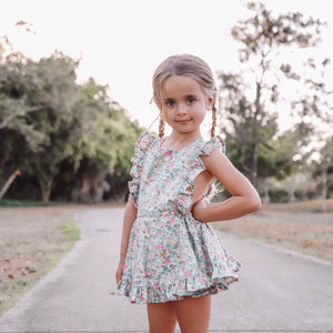 Mini Vintage Frilly Romper in Tutti Frutti