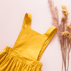 Brooklyn Pinafore in Mustard