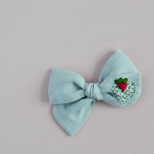 Pinwheel Hand Embroidered Bow - Joy