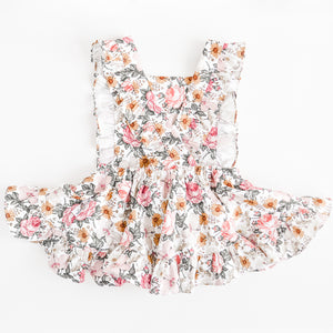 Mini Vintage Frilly Romper in Aurora