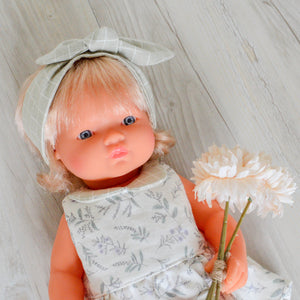 Lavender Floral Miniland Dolls Dress