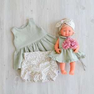 Miniland Linen Ruffle Spinny Dress
