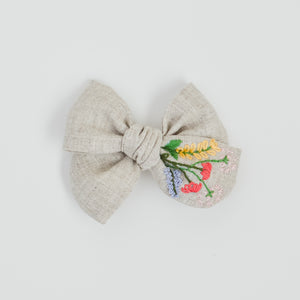 Hand Embroidered Pinwheel Bow - Delight