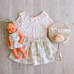 Ferngully Linen Miniland Dolls Dress