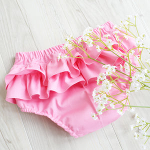 Ruffle Bottoms - Available in 9 Plain Fabrics