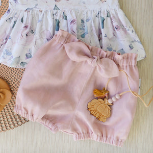 Bowknot Bloomers in Blush Linen