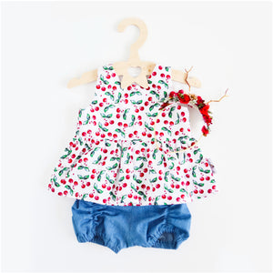 Cherries Peplum Top or Dress