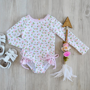 Summer Rose Long Sleeve Swimsuit