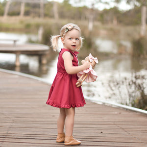 Winterberry Spinny Ruffle Dress