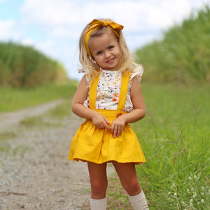 Mustard Suspender skirt