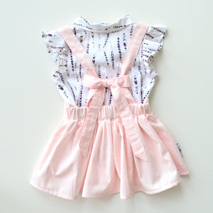 Crystal Pink Suspender skirt