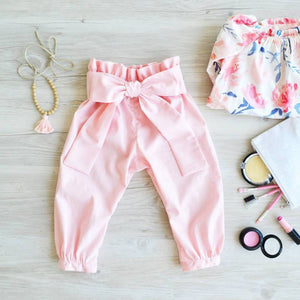 High Waisted Harem Pants in Peach