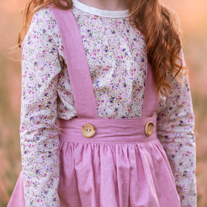 Long Sleeve Pintuck blouse in Sweet Floral