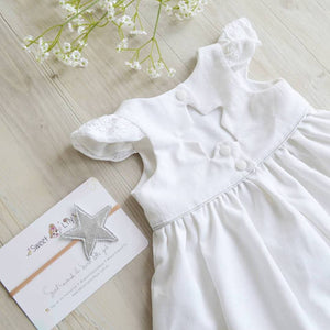 Twinkle Dress in White Linen