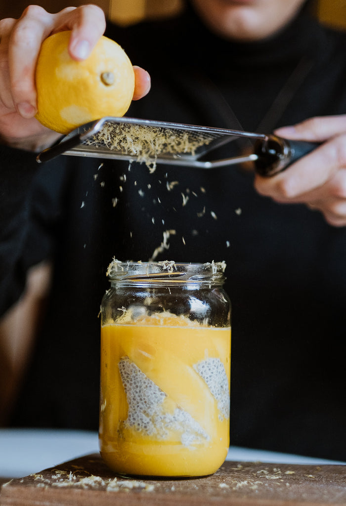 MANGO • MANDARINE • LEMON • COCONUT CHIA PUDDING • GR'EAT DREAM