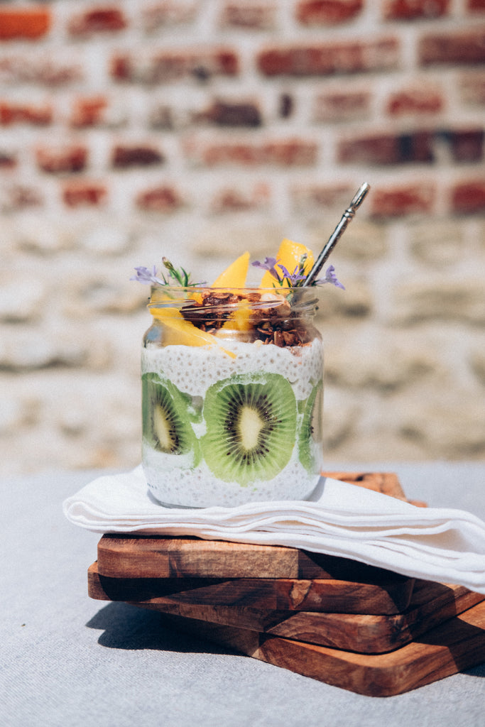 MANGO, KIWI & LIME CHIA PUDDING