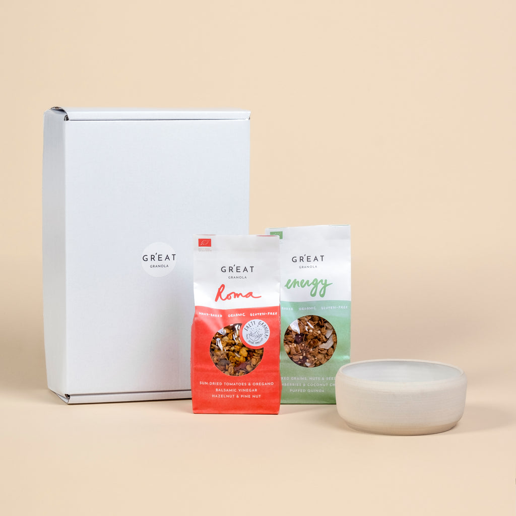 GR'EAT GIFT  - A handmade bowl and two 300g granolas of choice
