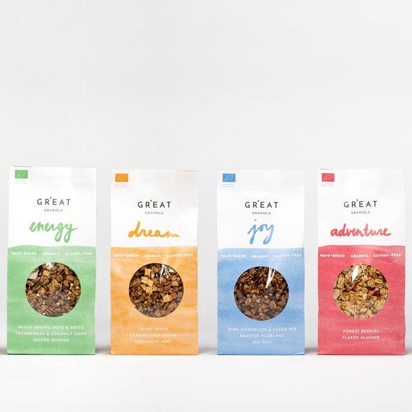 A XMAS CELEBR'EAT pack - our four sweet granola flavours