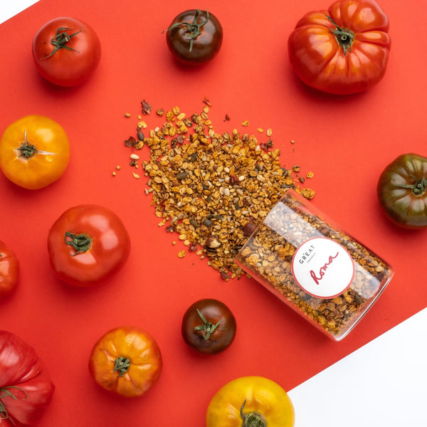 GR'EAT Roma - SUN-DRIED TOMATOES & OREGANO BALSAMIC VINEGAR HAZELNUT & PINE NUT