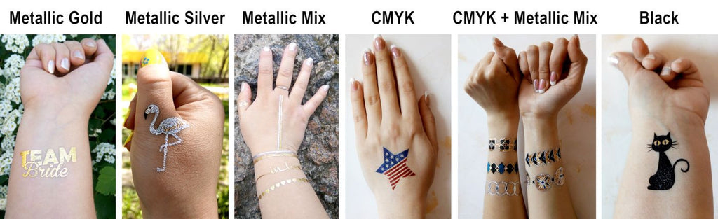 Custom Tattoo Color Gold Silver CMYK