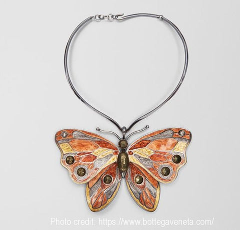 Butterfly necklace beautiful jewelry for women - photo