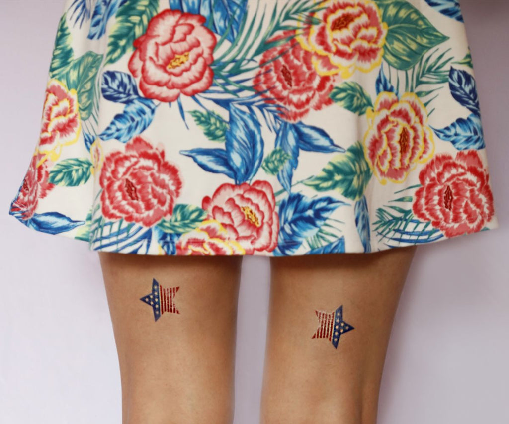 Temporary colorful tattoos and tanning protection | Photo