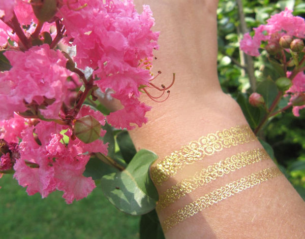 Spring bracelet tattoo ideas for women and adults | Jewel Flash Tattoos pictures