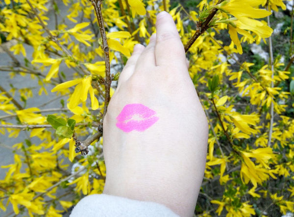 Spring seasonal pink lips tattoos for women | Jewel Flash Tattoos photo