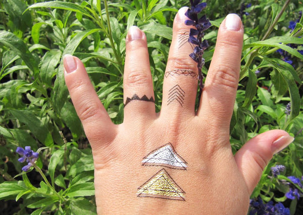 Spring tattoo ideas for women: geometry tattoos | Jewel Flash Tattoos photos