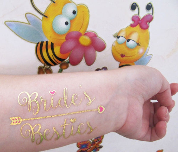 Bride spring tattoo ideas for women | Jewel Flash Tattoos photo with bees