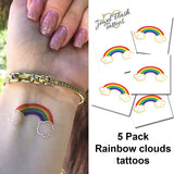 Rainbow cloud tattoo for women, LGBT community, pride parade | Jewel Flash Tattoos